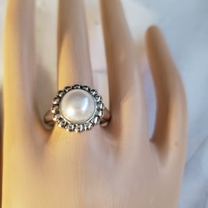 LAGOS Sterling Silver Pearl Ring